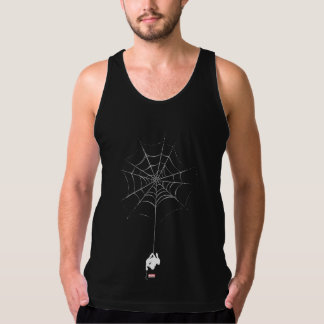 Spider-Man Hanging From Web Silhouette Singlet