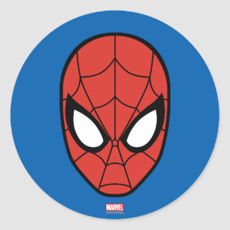 Spider-Man Head Icon Round Sticker