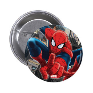 Spider-Man High Above the City 6 Cm Round Badge