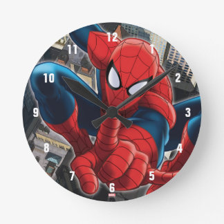 Spider-Man High Above the City Clock