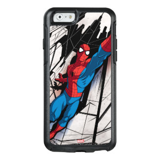Spider-Man In Abstract City OtterBox iPhone 6/6s Case