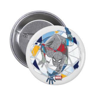 Spider-Man In Kaleidoscope Web 6 Cm Round Badge