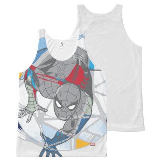 Spider-Man In Kaleidoscope Web All-Over Print Singlet