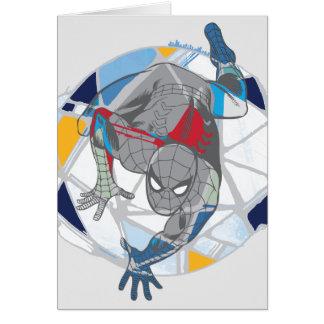 Spider-Man In Kaleidoscope Web Card