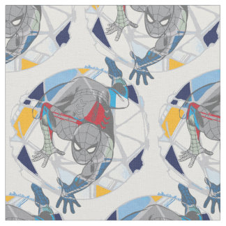 Spider-Man In Kaleidoscope Web Fabric