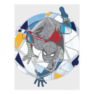 Spider-Man In Kaleidoscope Web Postcard
