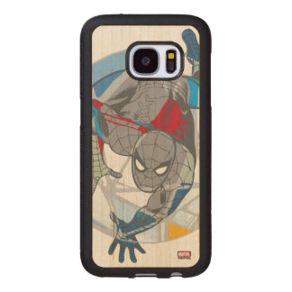 Spider-Man In Kaleidoscope Web Wood Samsung Galaxy S7 Case