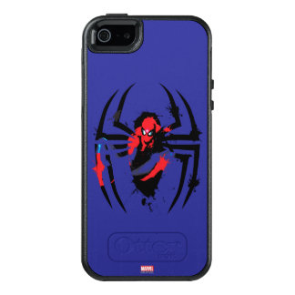Spider-Man in Spider Shaped Ink Splatter OtterBox iPhone 5/5s/SE Case