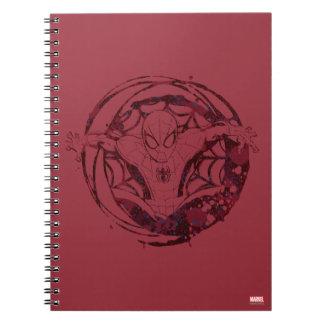 Spider-Man In Web Graphic Spiral Note Book
