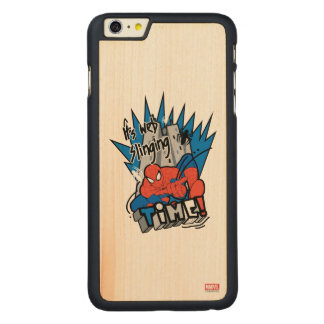 Spider-Man It's Web Slinging Time Carved® Maple iPhone 6 Plus Case