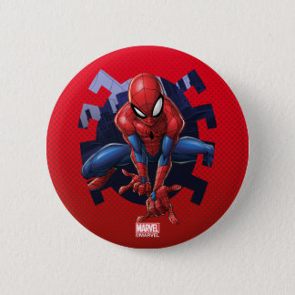 Spider-Man Leaping Out Of Spider Graphic 6 Cm Round Badge