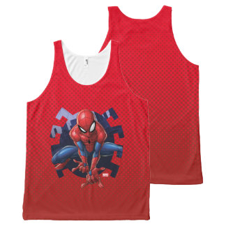 Spider-Man Leaping Out Of Spider Graphic All-Over Print Singlet