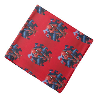 Spider-Man Leaping Out Of Spider Graphic Bandana
