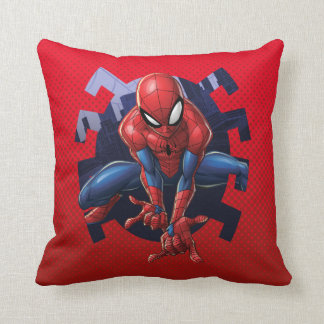 Spider-Man Leaping Out Of Spider Graphic Cushion