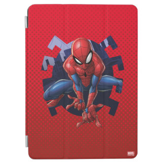 Spider-Man Leaping Out Of Spider Graphic iPad Air Cover