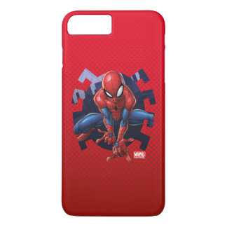 Spider-Man Leaping Out Of Spider Graphic iPhone 8 Plus/7 Plus Case