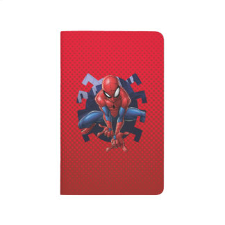 Spider-Man Leaping Out Of Spider Graphic Journal