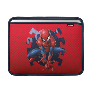 Spider-Man Leaping Out Of Spider Graphic MacBook Sleeve