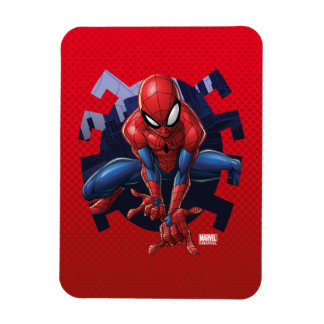 Spider-Man Leaping Out Of Spider Graphic Magnet
