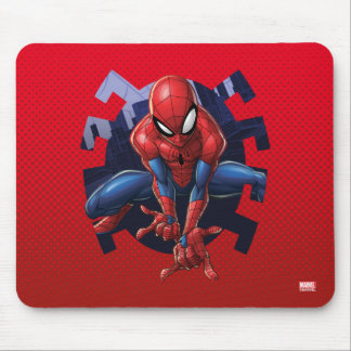 Spider-Man Leaping Out Of Spider Graphic Mouse Pad