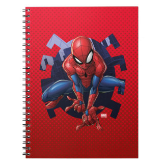 Spider-Man Leaping Out Of Spider Graphic Notebook