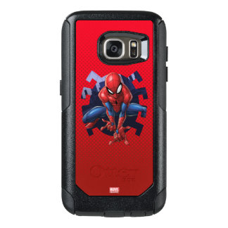 Spider-Man Leaping Out Of Spider Graphic OtterBox Samsung Galaxy S7 Case