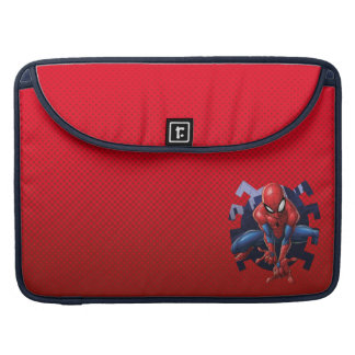 Spider-Man Leaping Out Of Spider Graphic Sleeve For MacBook Pro