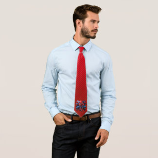 Spider-Man Leaping Out Of Spider Graphic Tie