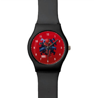 Spider-Man Leaping Out Of Spider Graphic Wrist Watches