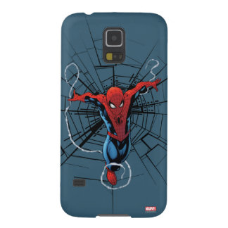 Spider-Man Leaping With Webbing Galaxy S5 Cover
