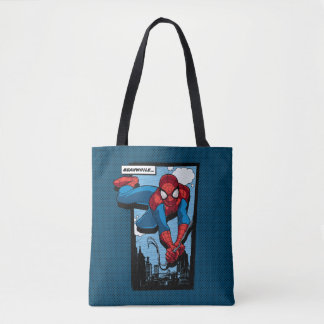 Spider-Man Meanwhile Comic Panel Tote Bag