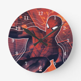 Spider-Man Mid-Air Spidey Sense Round Clock