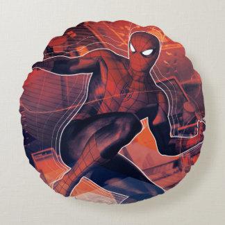 Spider-Man Mid-Air Spidey Sense Round Cushion