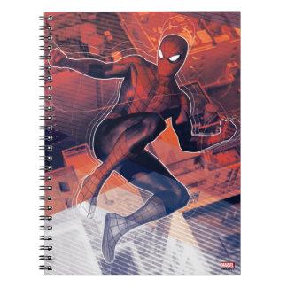 Spider-Man Mid-Air Spidey Sense Spiral Notebook