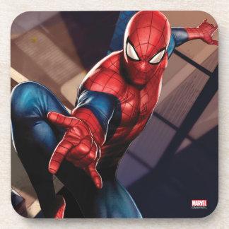 Spider-Man On Skyscraper Beverage Coasters
