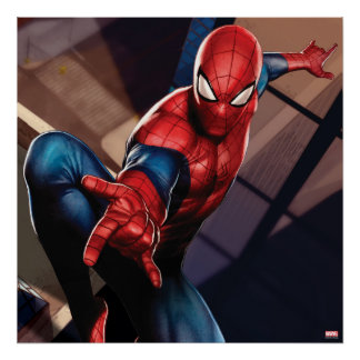 Spider-Man On Skyscraper Poster