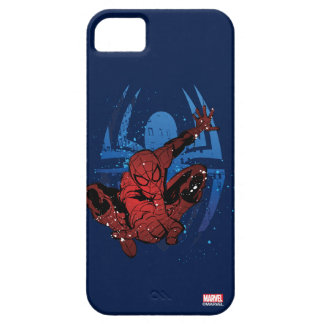 Spider-Man Paint Splatter & Logo Graphic iPhone 5 Covers