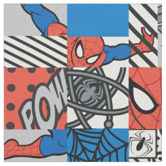 Spider-Man Pop Art Pattern Fabric