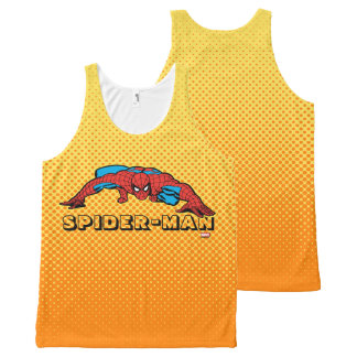 Spider-Man Retro Crouch All-Over Print Singlet