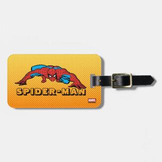 Spider-Man Retro Crouch Luggage Tag