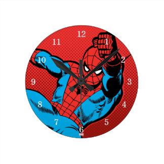 Spider-Man Retro Swinging Kick Round Clock