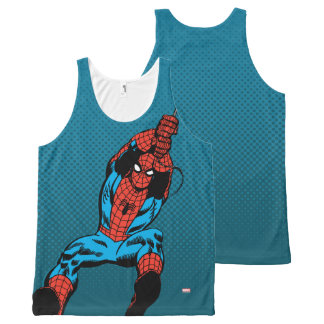 Spider-Man Retro Web Swing All-Over Print Singlet
