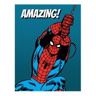 Spider-Man Retro Web Swing Postcard