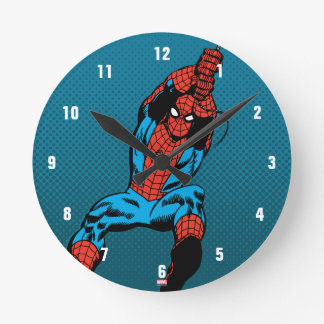 Spider-Man Retro Web Swing Round Clock