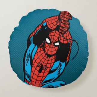 Spider-Man Retro Web Swing Round Cushion