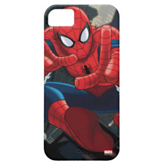 Spider-Man Shooting Web High Above City iPhone 5 Cases