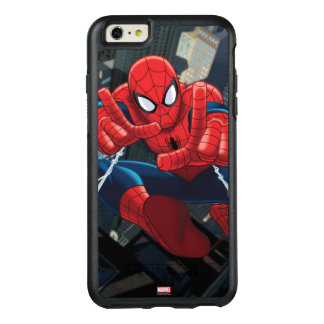 Spider-Man Shooting Web High Above City OtterBox iPhone 6/6s Plus Case