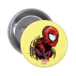 Spider-Man Sketched Marker Drawing 6 Cm Round Badge