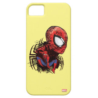 Spider-Man Sketched Marker Drawing iPhone 5 Cover