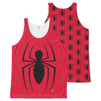 Spider-Man Skinny Spider Logo All-Over Print Singlet
